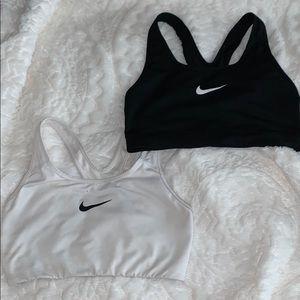 Blacks and White Nike Sports Bras